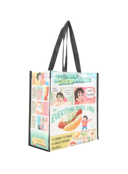 Steven Universe Steven Chewniverse Everything Bagel Dog Tote Bag