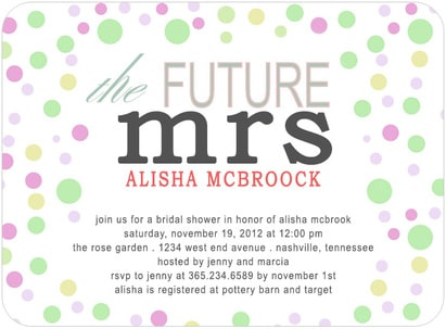The Future Mrs Bridal Shower Invitation Card HPB128