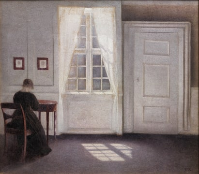 Hammershøi Vilhelm : A Room in the Artist's Home (1901)