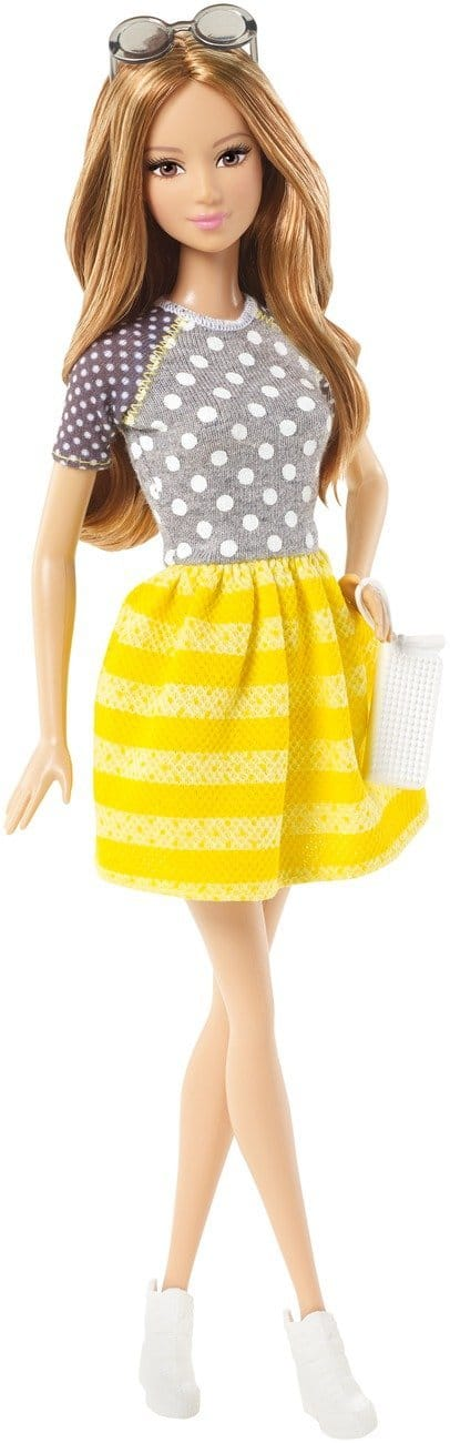 Barbie Fashionistas Summer Doll, Yellow and White Striped Skirt
