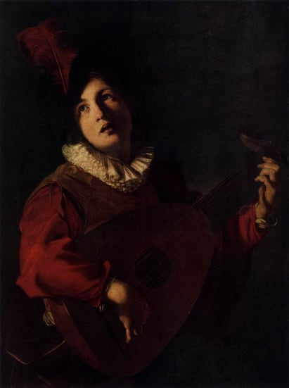 Lute Playing Young Man